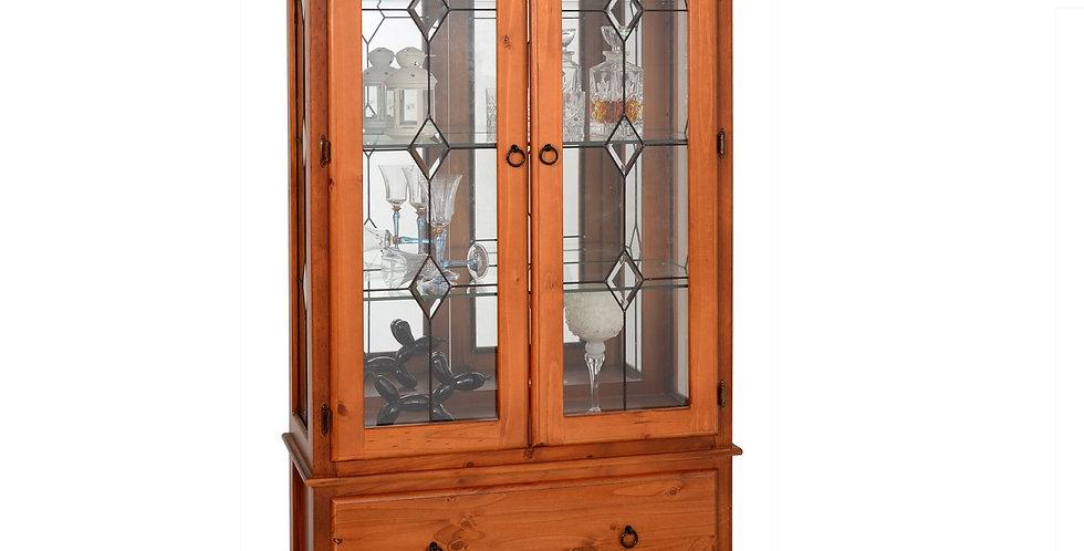 Palour Large Display Cabinet - 2 Drw