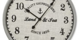 Land & Sea Wall Clock 60cm - Antique Grey