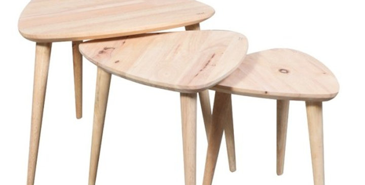 Scandi Nest of 3 Tables