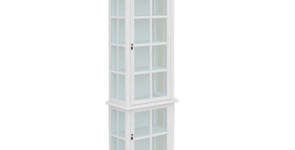 Somerset 2 Door White Display Cabinet