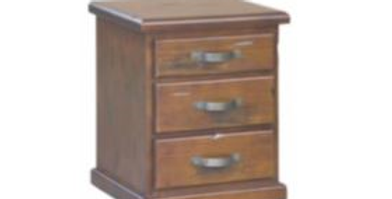 Jamaica Bedside 3 Drawers