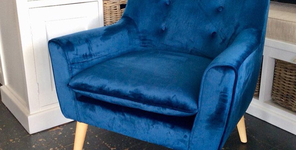 Lisette Velvet Accent Chair