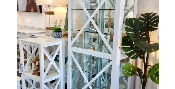 White Cross Display Cabinet