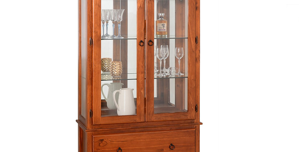 Crown Large Display Cabinet - 2 Drw