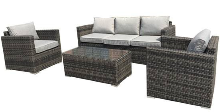 Milford Outdoor Lounge - 3 Seater & 2 Arm Chairs