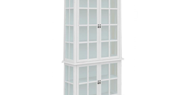 Somerset 4 Door White Display Cabinet