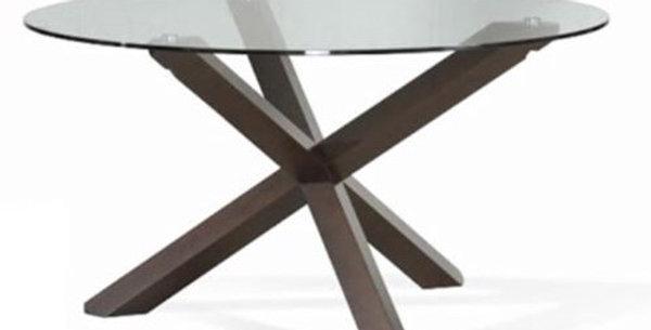 Verona Round Glass Dining Table