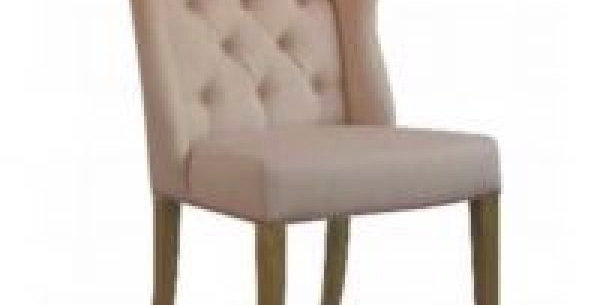 Royale Upholstered Fabric Wing Dining Chair