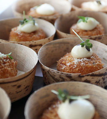 mini risotto balls, food stations,
