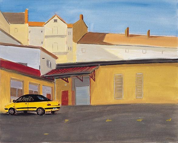 Karl 街的一个后院  40cm×50cm  布面油画  2007  武艺.j