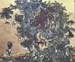 芥子园-少年和豹