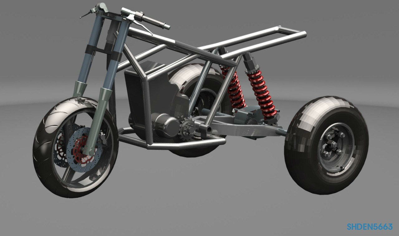Трайк на основе мотоцикла Honda