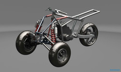 Трицикл на основе мотоцикла Honda