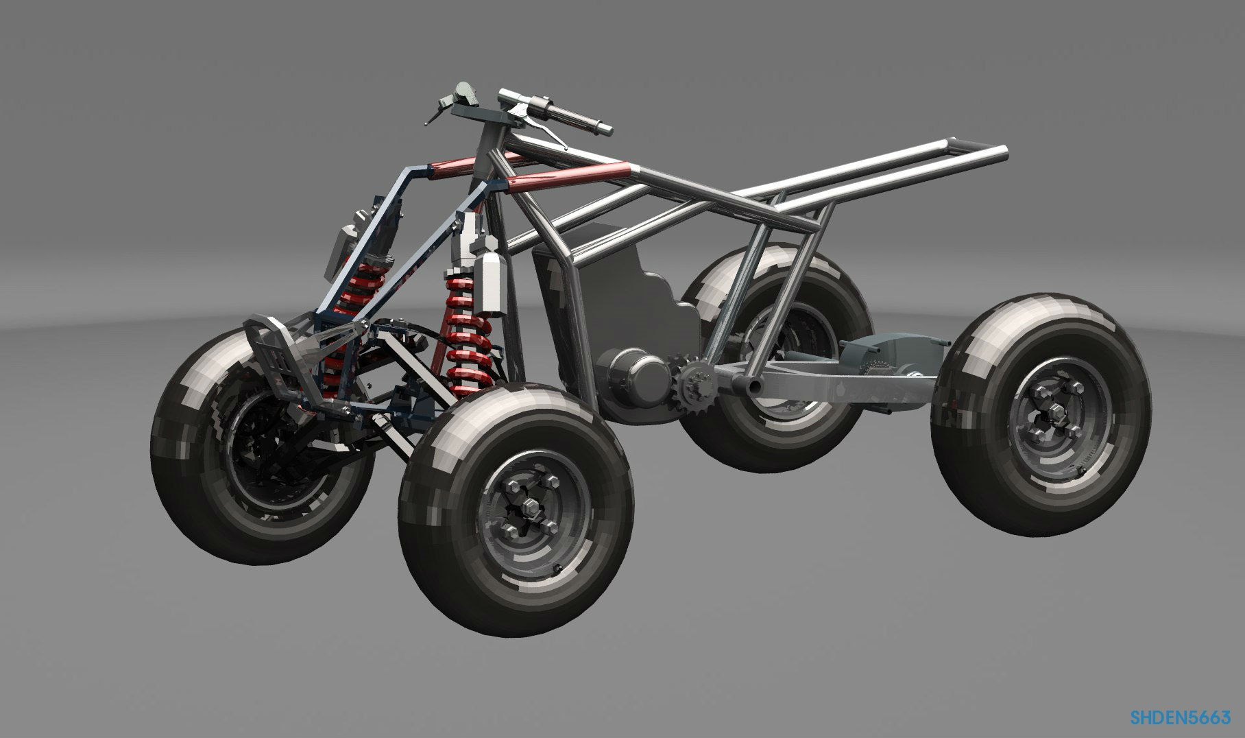 Квадроцикл на основе мотоцикла Honda