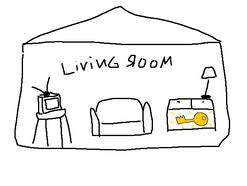 Draft living room key