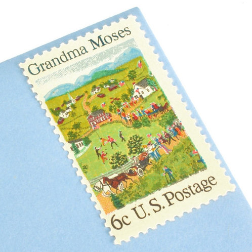 6¢ Grandma Moses - 25 Stamps