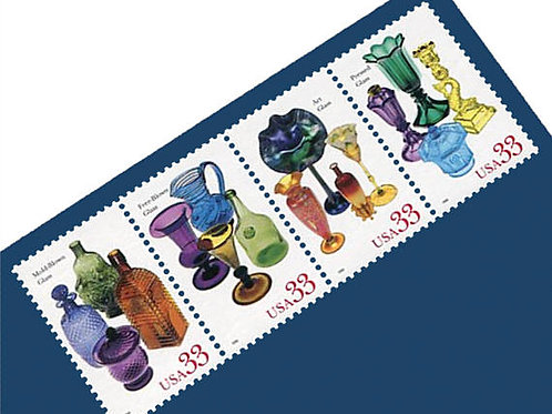 Pack of 15 Unused Glass Stamps - 33c - Unused Postage - Quantity of 15