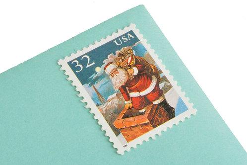 32¢ Santa & Children - 25 Stamps