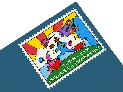 Pack of 25 Unused Peter Max Stamps - 10c - Vintage 1974 - Unused Vintage Postage