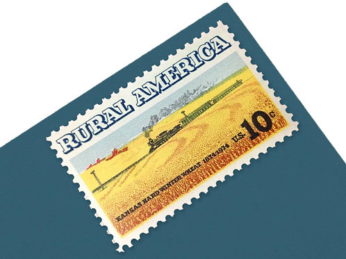 10¢ Rural America Wheat & Train - 25 Stamps