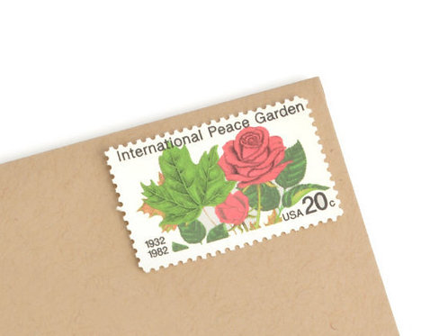 20¢ International Peace Garden Roses - 25 Stamps