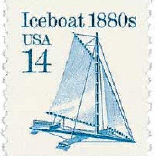 Pack of 25 Unused Iceboat - 14c - 1985 - Unused Vintage Postage