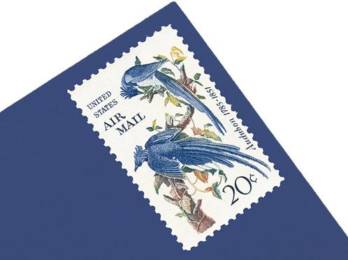 5¢ Audubon Columbia Jay - 25 Stamps