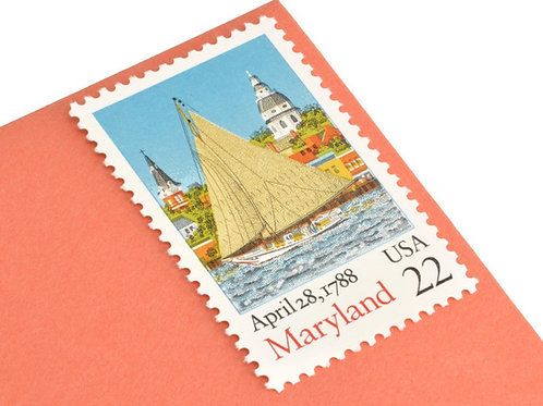 22¢ Maryland Statehood - 25 Stamps