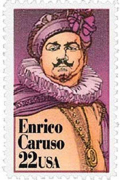 Pack of 25 Unused Enrico Caruso Stamps - 22c - 1987 - Unused Vintage Postage