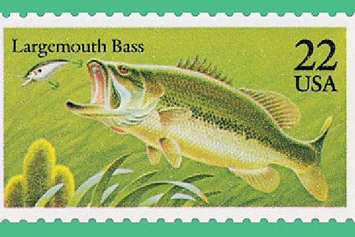 20 Stamps American Fish - 22c - 1986 - Unused - Quantity of 20
