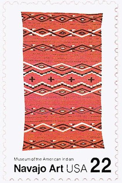 Pack of 25 Unused Navajo Art - 22c - 1986 - Unused Vintage Postage - Quantity of