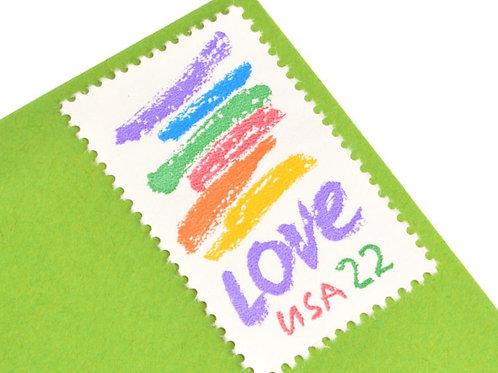 22¢ Rainbow Crayon Love - 25 Stamps