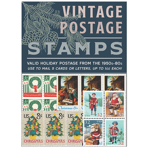 WHOLESALE Vintage Holiday Postage Stamps 2018 - Blue Pack