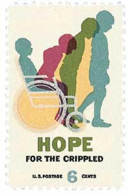 Pack of 25 Unused Hope for Crippled Stamps - 6c - 1969 - Unused Vintage Postage