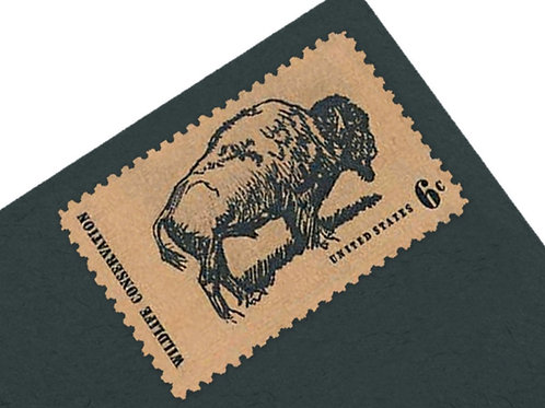 6¢ Buffalo Wildlife Conservation - 25 Stamps