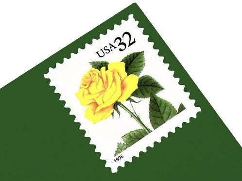 32¢ Yellow Rose - 20 Stamps