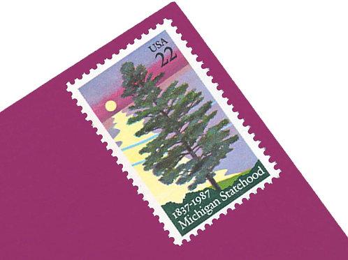 22¢ Michigan Statehood - 25 Stamps