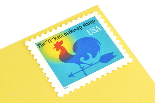 1¢ Rooster Weather Vane H-Rate - 25 Stamps