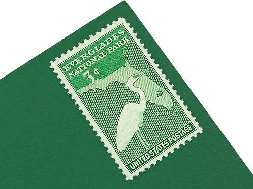 3¢ Florida Everglades - 25 Stamps
