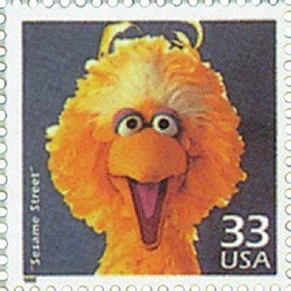 15 Unused Sesame Street Stamps - 33 cent - 1999 - Unused Vintage Postage