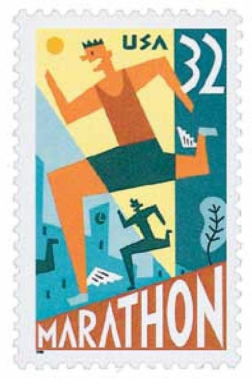 Pack of 20 Unused Marathon Stamps - 32c - 1996 - Unused Vintage Postage - Quanti