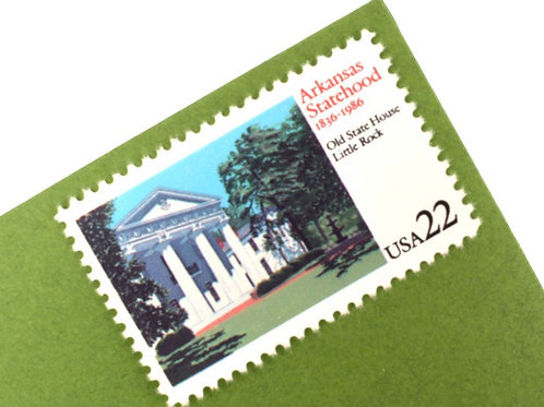 22¢ Arkansas Statehood - 25 Stamps