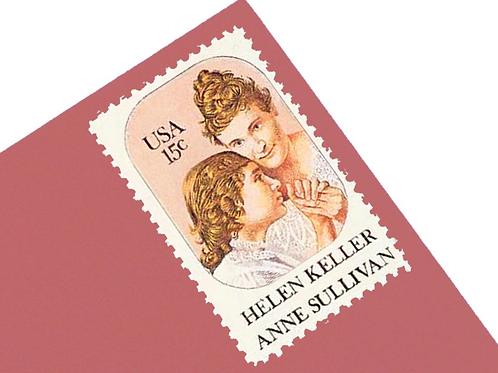 15¢ Hellen Keller & Anne Sullivan - 25 Stamps