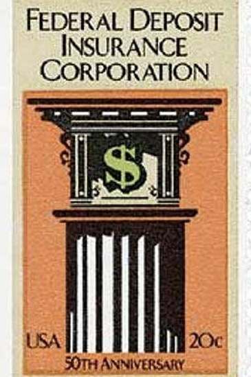 25 Federal Deposit Insurance Corp. Postage Stamps - 20c - 1984 - Unused