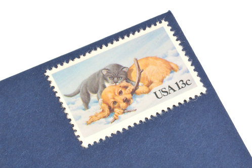 13¢ Cat & Dog - 25 Stamps