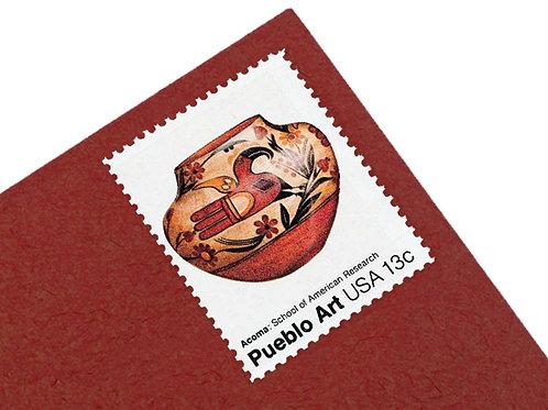 13¢ Pueblo Art Vases - 24 Stamps