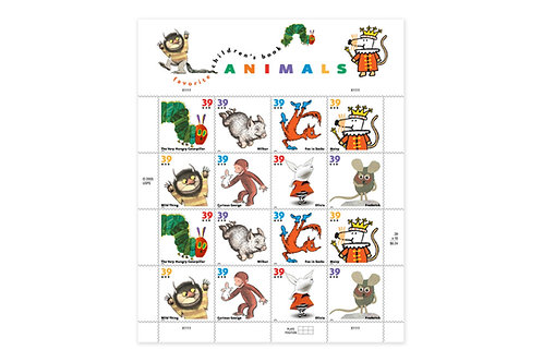 39¢ Children's Book Characters - 16 Stamps
