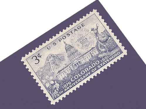 3¢ Colorado - 25 Stamps