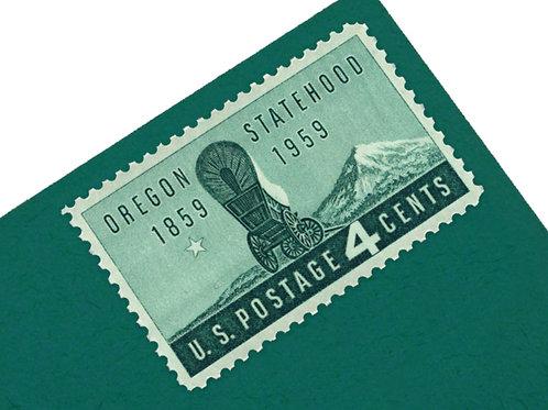4¢ Oregon Statehood - 25 Stamps