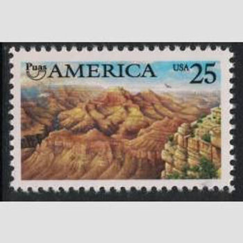 Pack of 25 Unused Grand Canyon Stamps - 25c - 1990 - America - Arizona